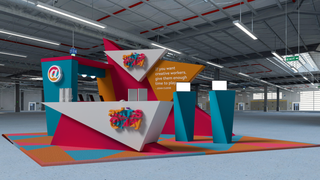 Render 3D kiosks to see them before production
