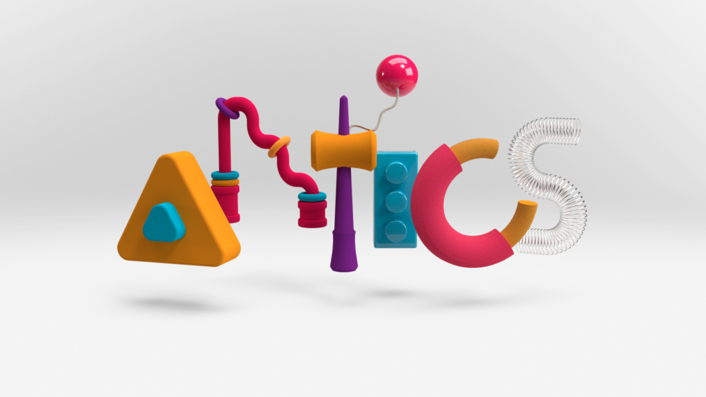 Seamless design and copy with 3d typography