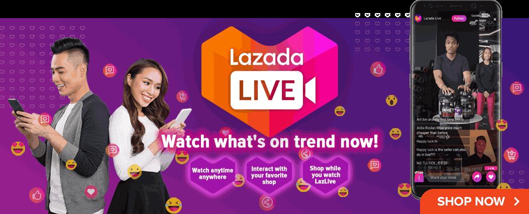 Shopstreaming Lazada LazLive