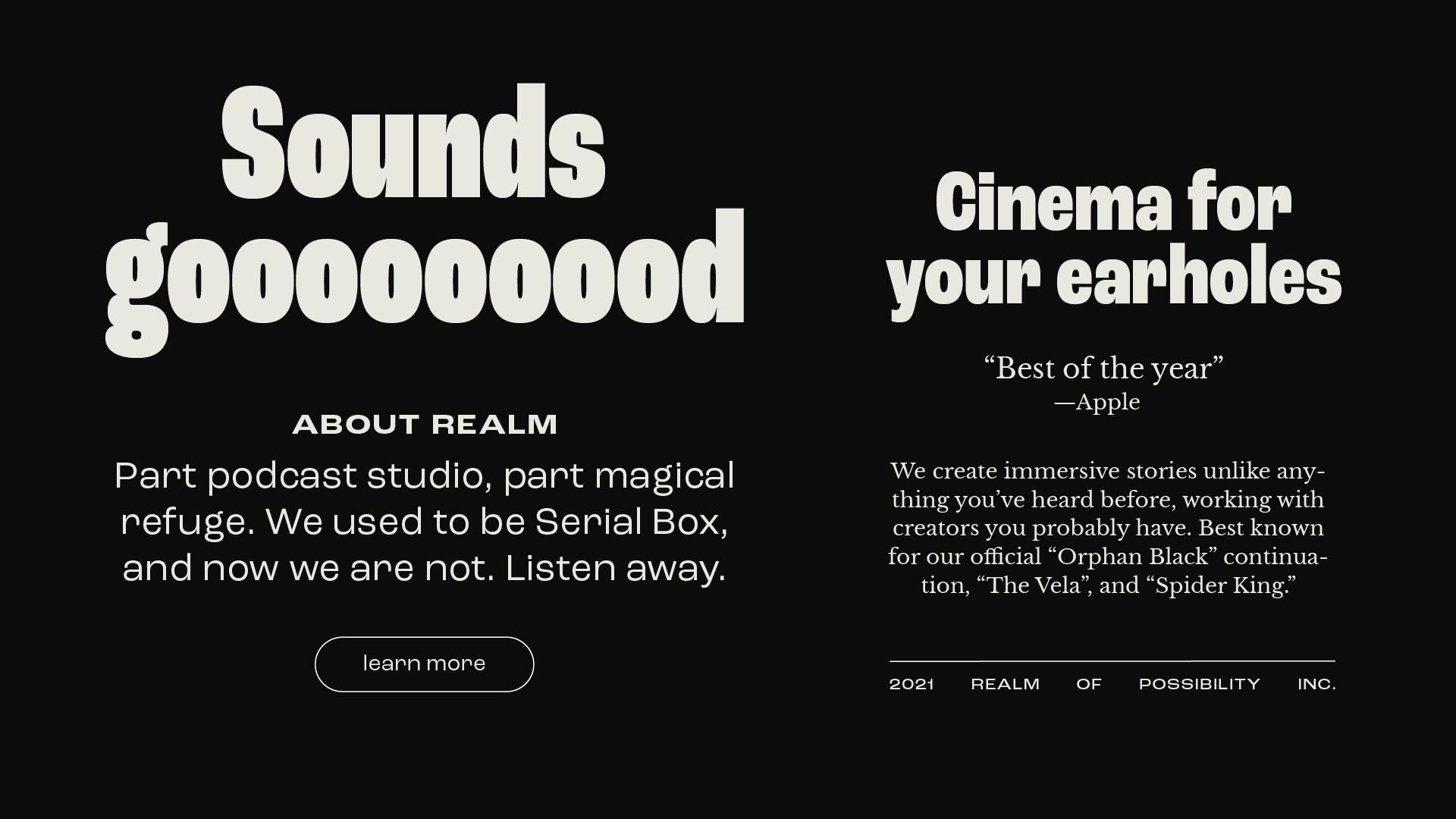 Realm retro typography