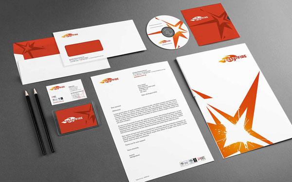 Bestofire rebranding stationery using grants - CDG